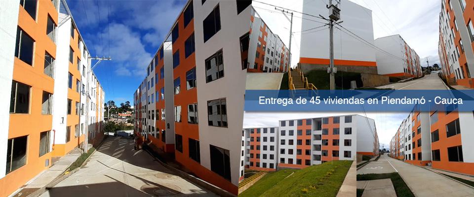 Fondo Adaptación entregará 45 viviendas en el municipio de Piendamó, Cauca