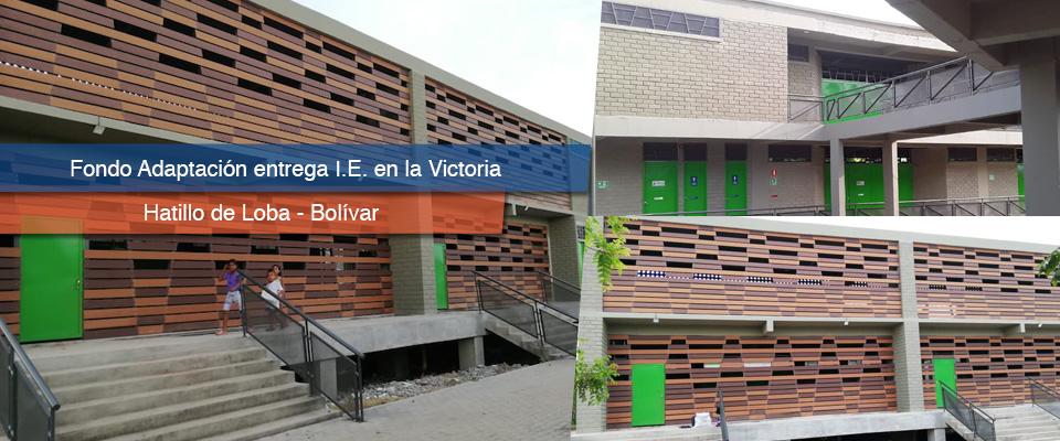Fondo Adaptación entregó institución educativa para 345 niños y niñas en corregimiento La Victoria, Hatillo de Loba-Bolívar