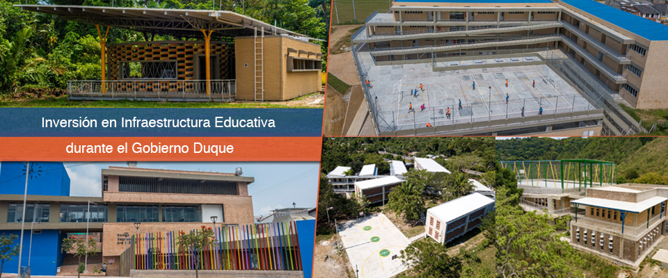 Fondo Adaptación: más de $180 mil millones en infraestructura educativa, durante el gobierno Duque