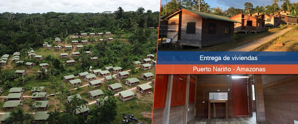 Fondo Adaptación inició jornada de entrega de viviendas para comunidades indígenas en Puerto Nariño, Amazonas