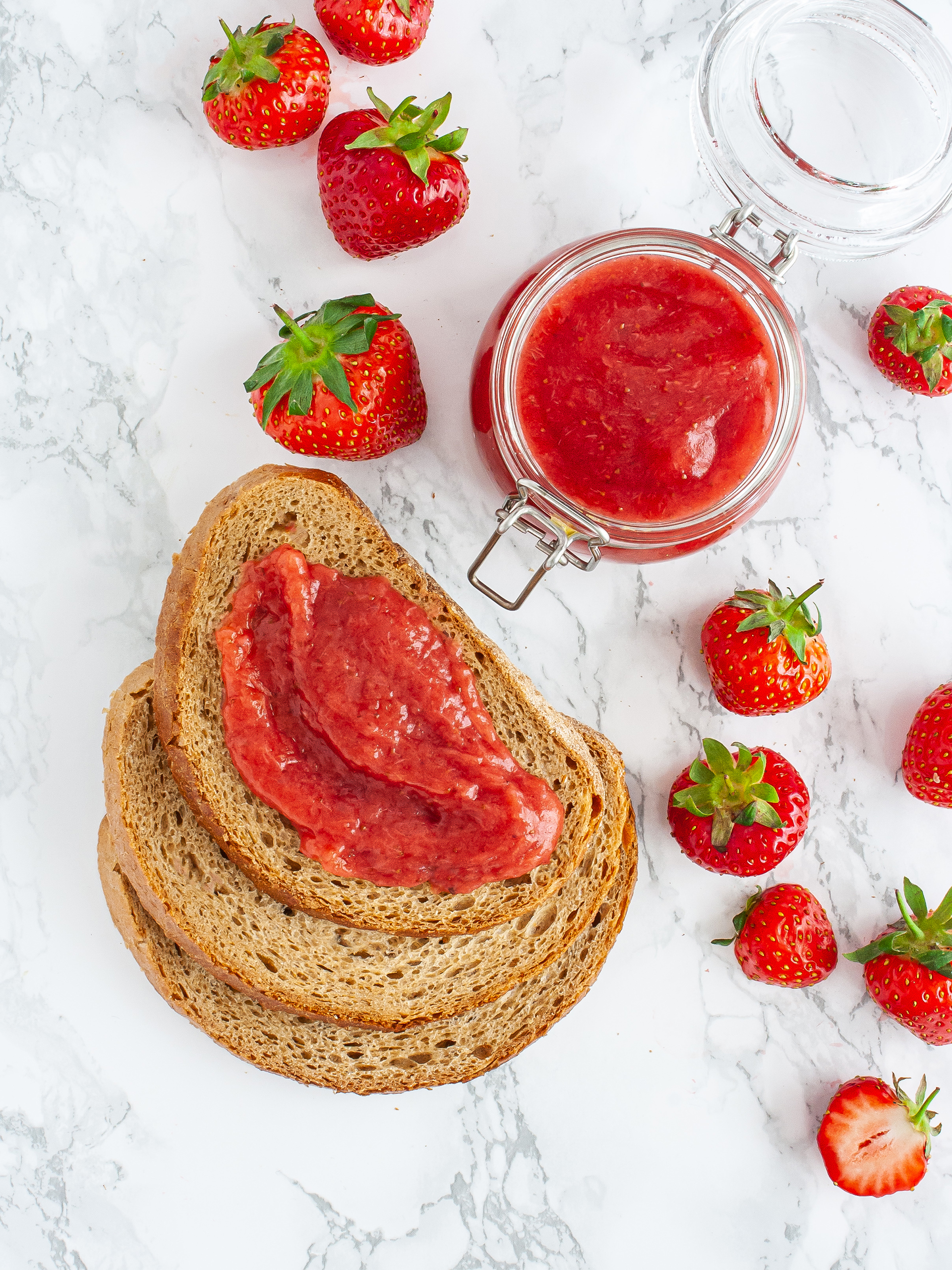 Sugar Free Strawberry Jam without Pectin