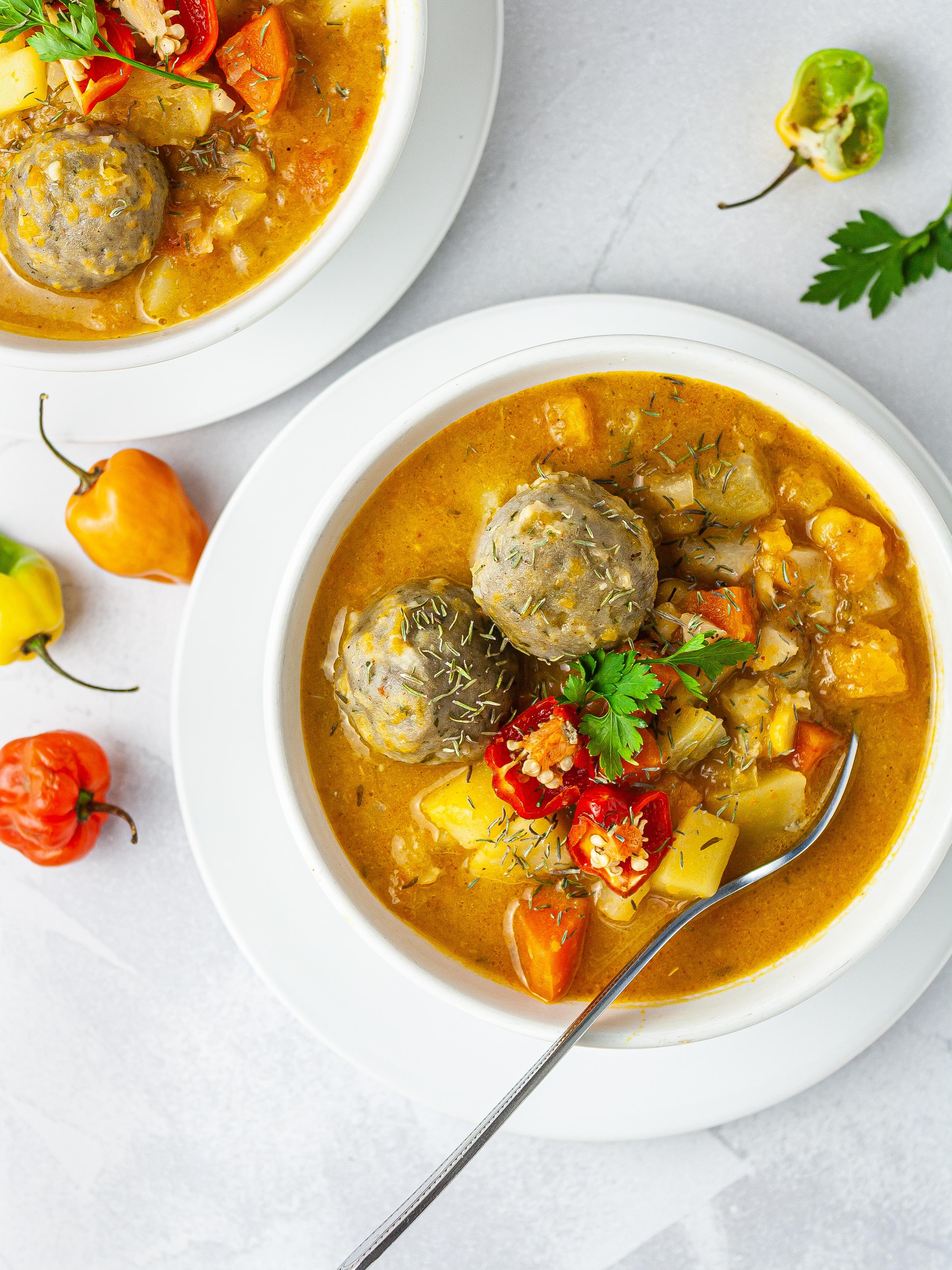 Jamaican Vegetable Soup Recipe Thumbnail