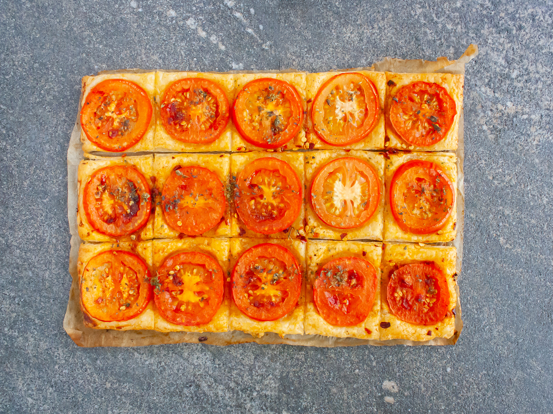 Step 3.1 of Vegan Pastry Party Snacks with Tomatoes Recipe