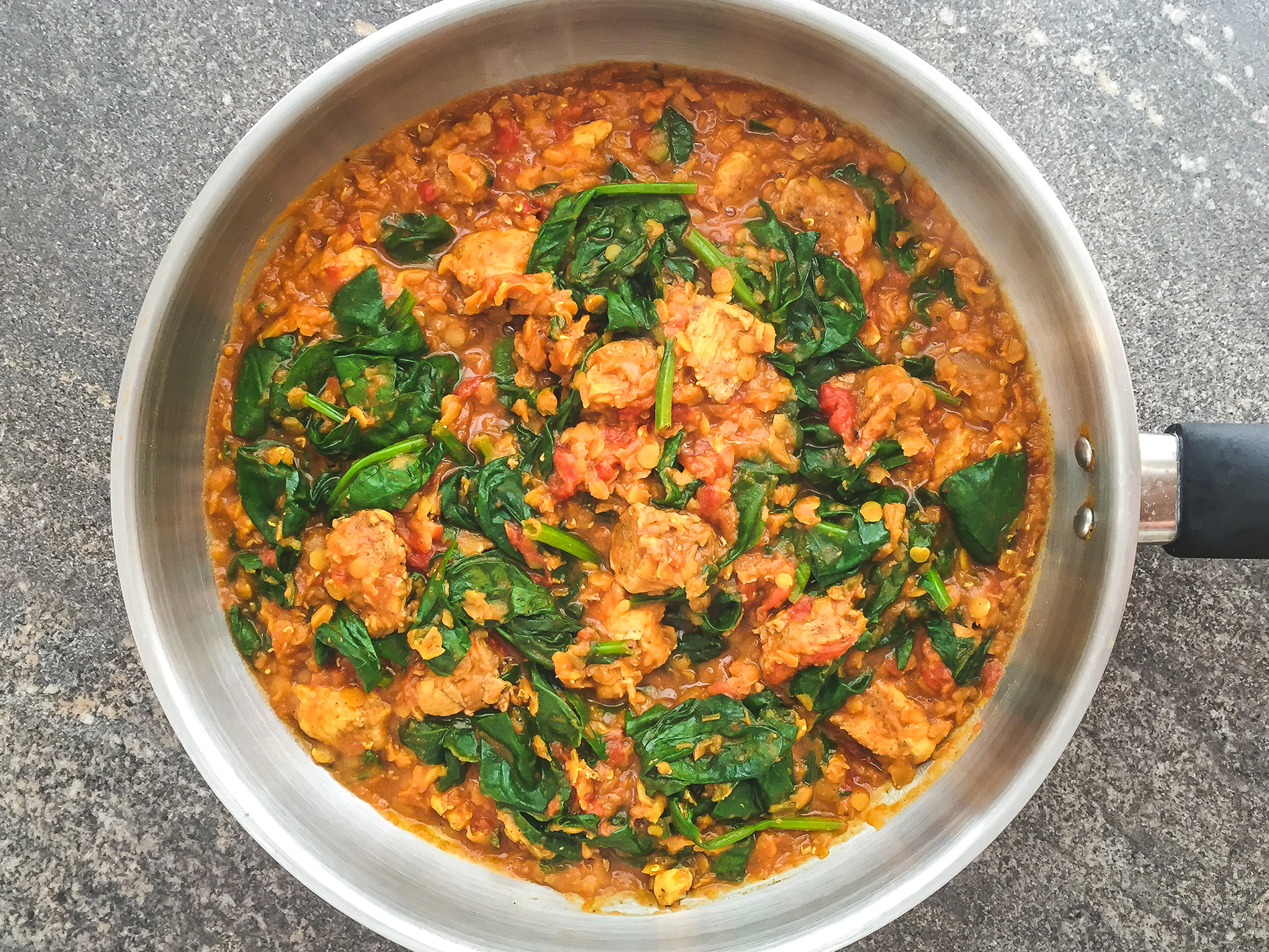 Step 3.2 of Dairy-free Healthy Simple Chicken Saag Recipe