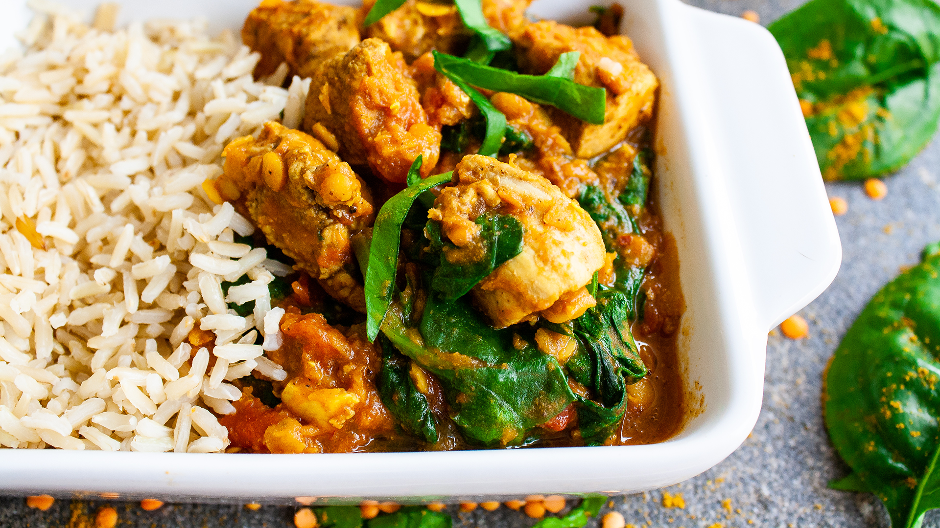 Dairy-free Healthy Simple Chicken Saag Recipe Thumbnail