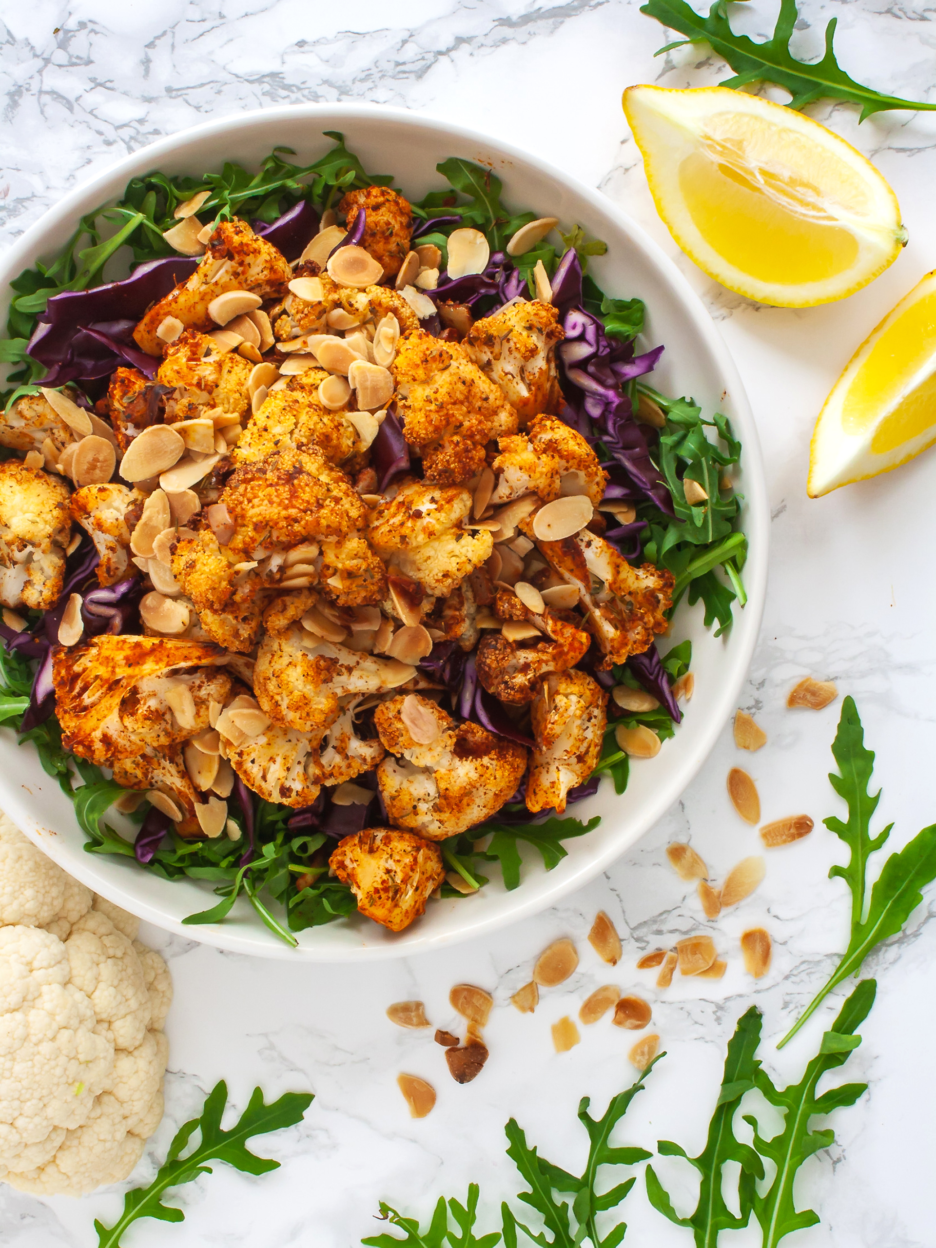 Roasted Cajun Cauliflower Salad