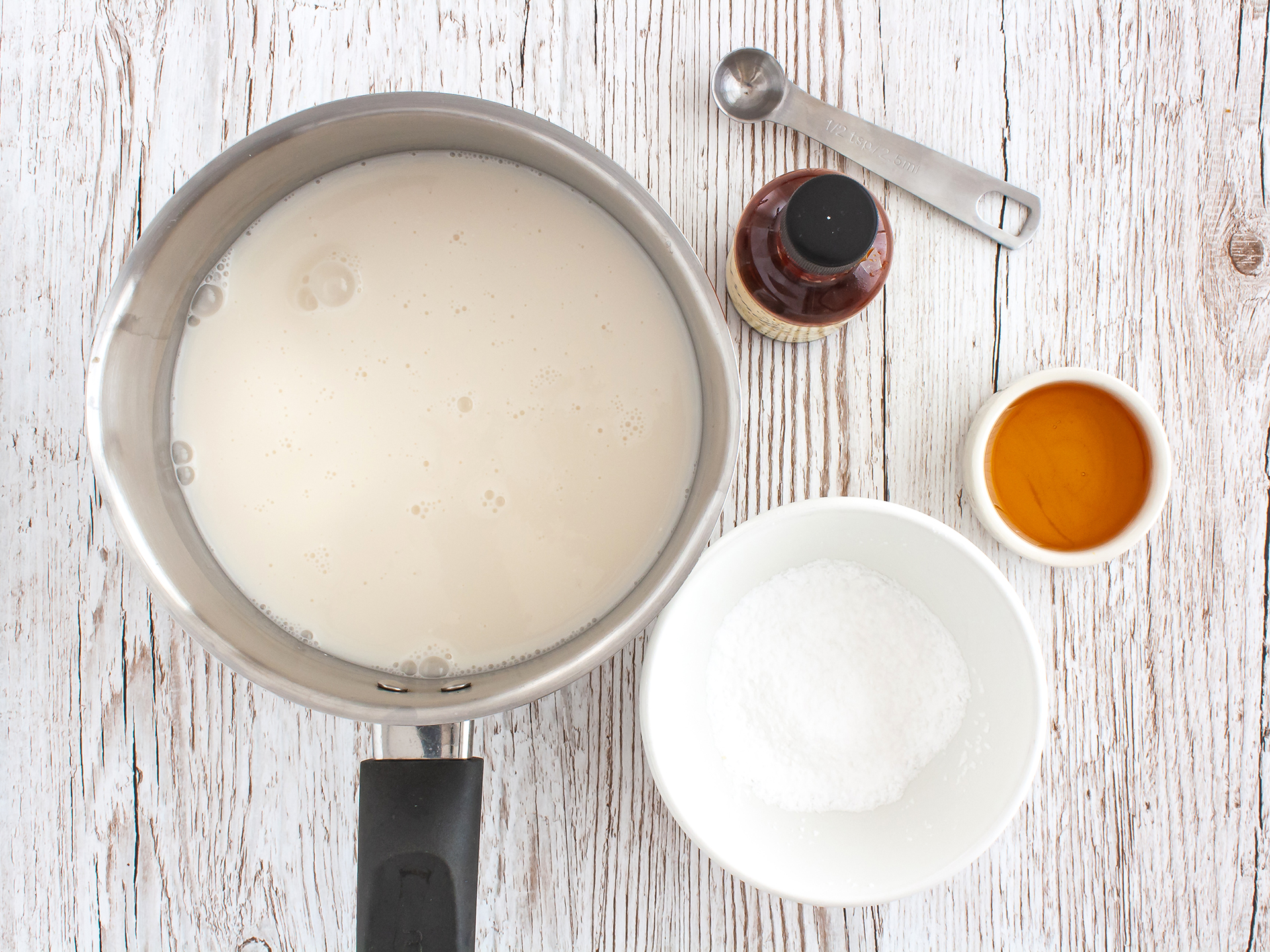 Step 1.1 of Eggless Almond Milk Pastry Cream