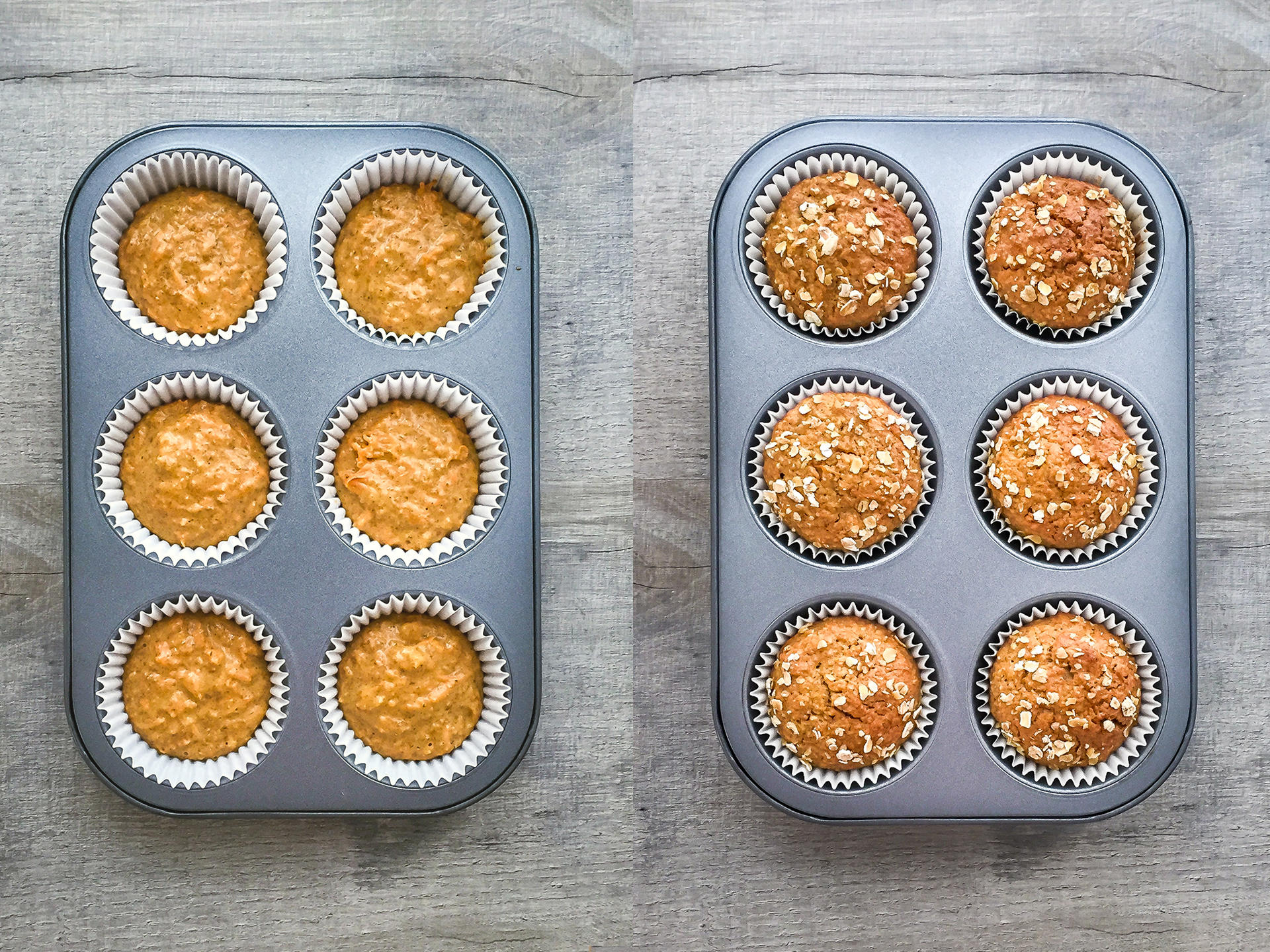 Step 3.1 of Dairy Free Carrot and Oat Muffins