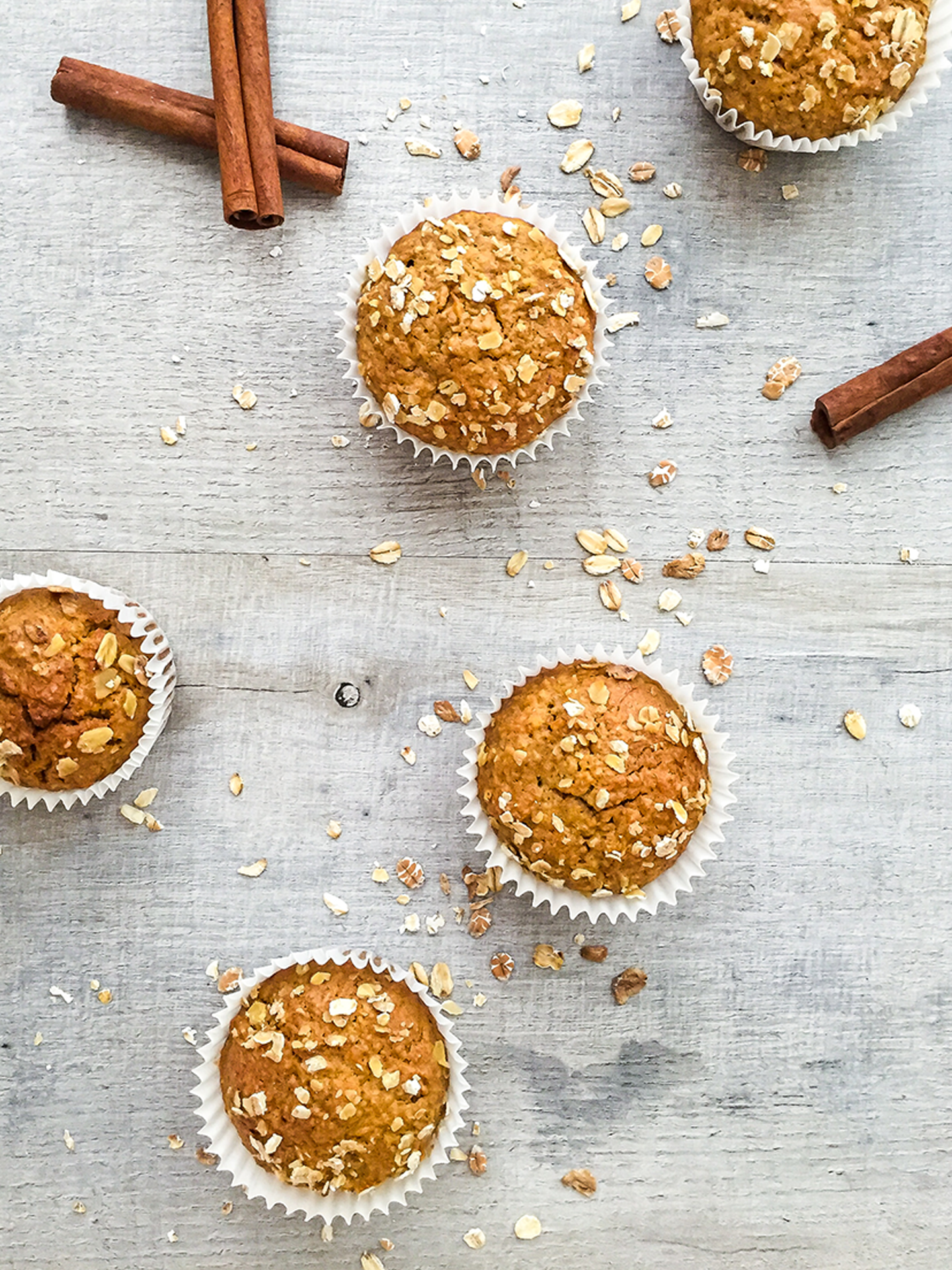 Dairy Free Carrot Oat Muffins with Ginger and Cinnamon Preview