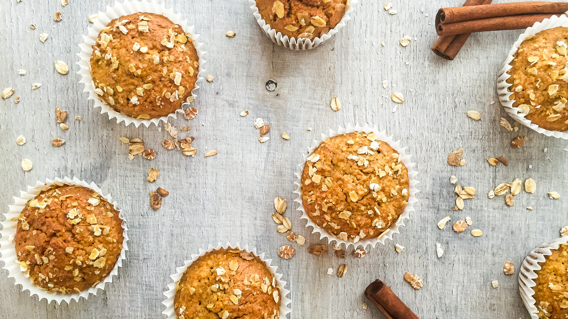 Dairy Free Carrot Oat Muffins with Ginger and Cinnamon Thumbnail