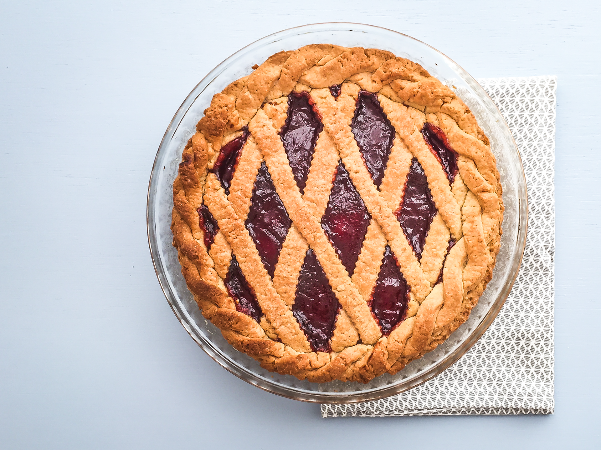 No Butter Simple Strawberry Jam Pie Preview