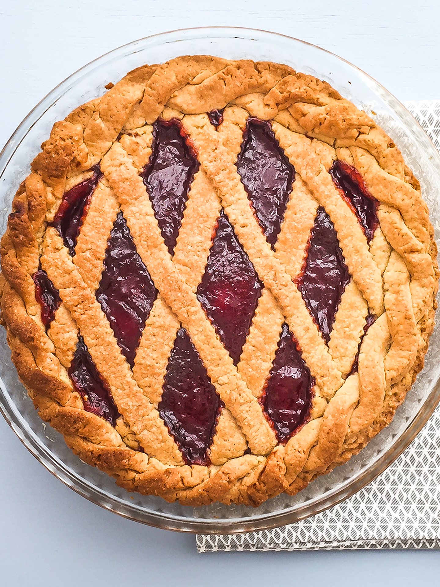 No Butter Simple Strawberry Jam Pie Thumbnail