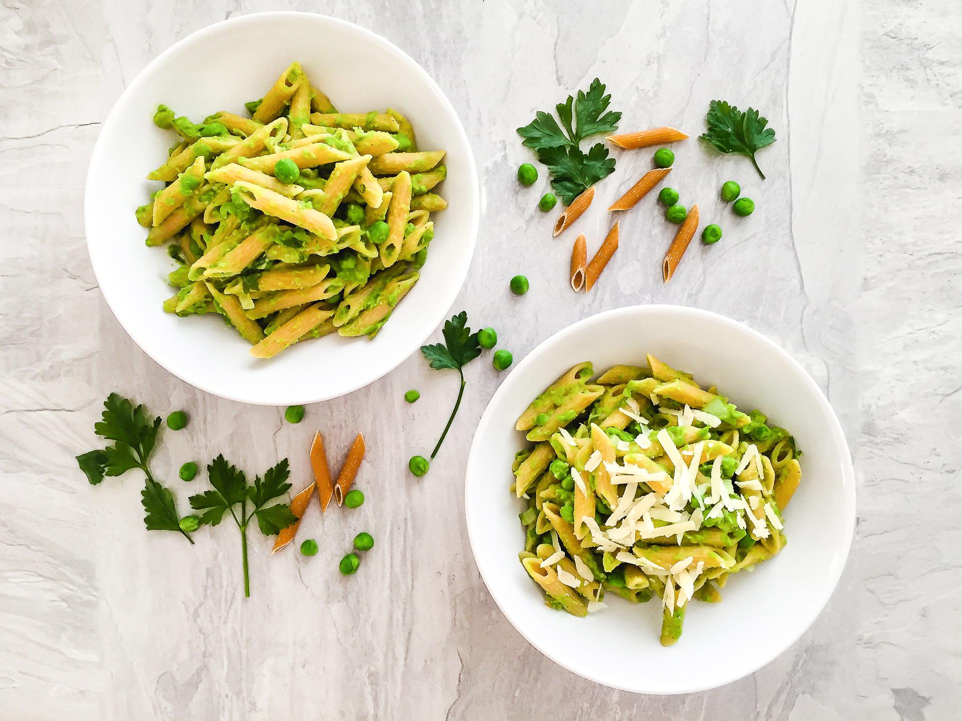 Vegan High Fibre Pasta with Creamy Peas and Nutmeg Preview