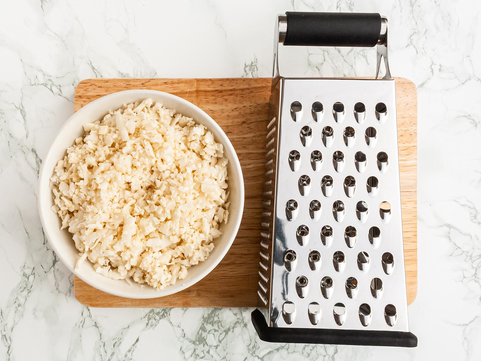 Step 1.1 of Crispy Cauliflower Rice Recipe