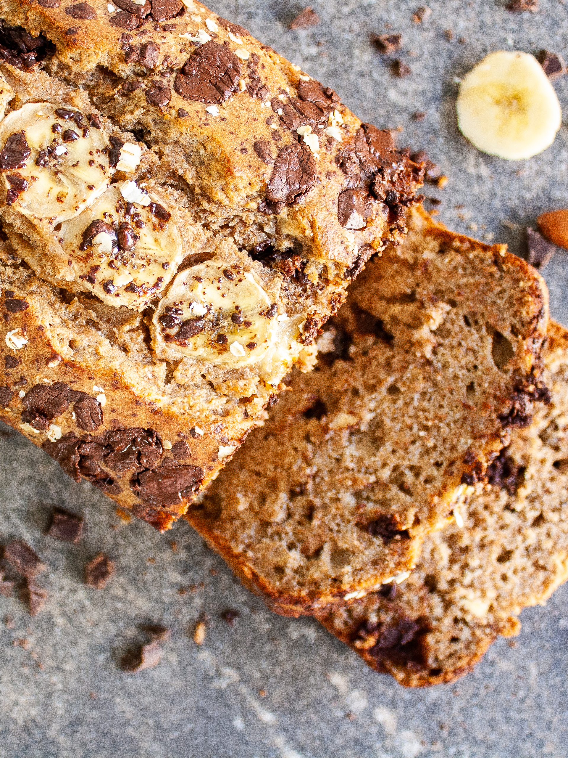 Almond Milk Banana Bread with Chocolate Chips Thumbnail