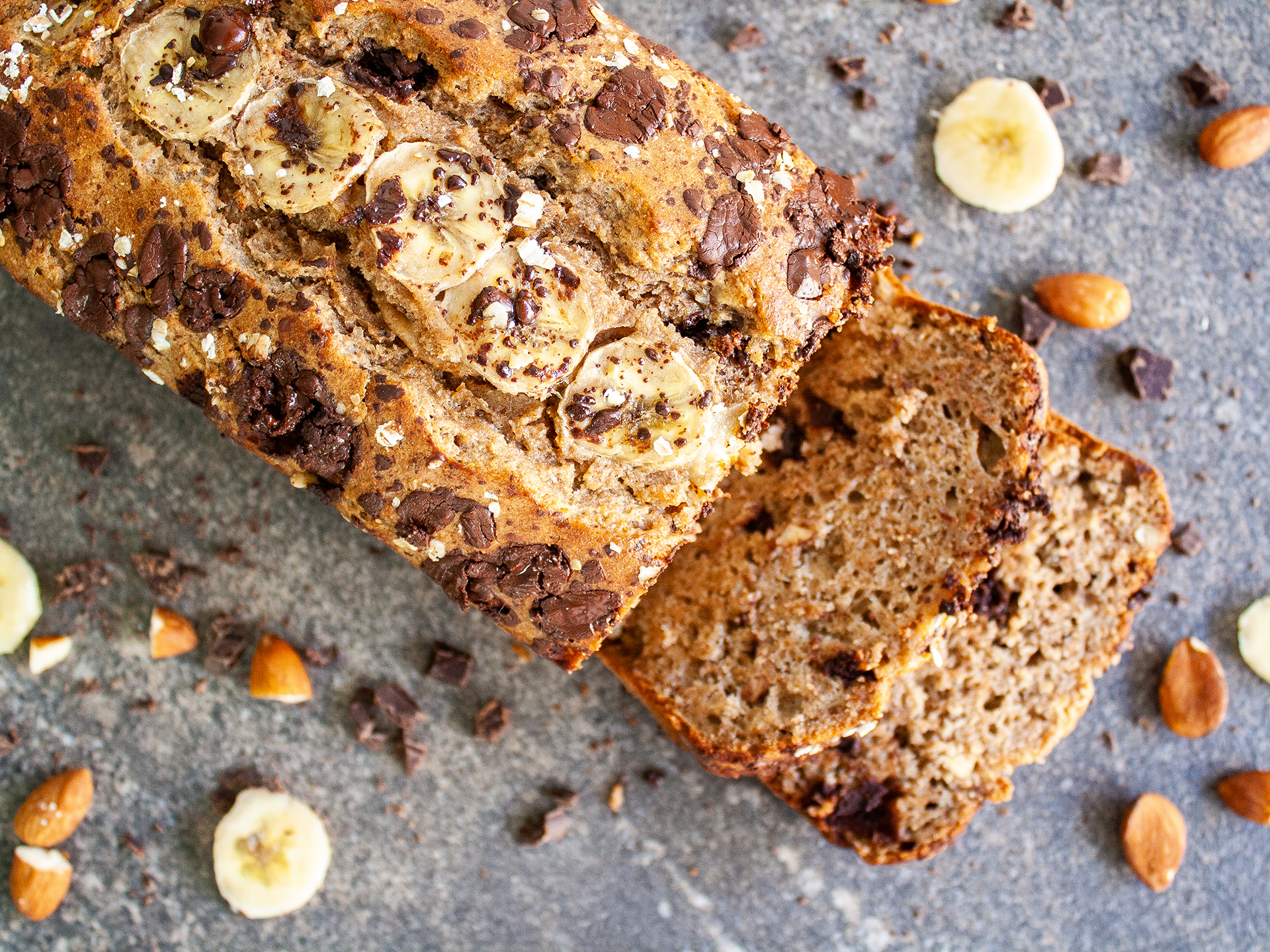Dairy Free Easy Chocolate Chips and Almond Banana Bread Preview