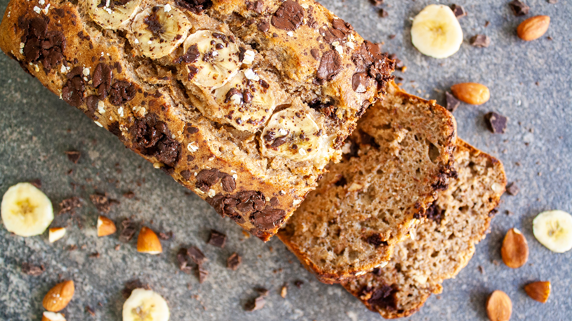 Dairy Free Easy Chocolate Chips and Almond Banana Bread Thumbnail