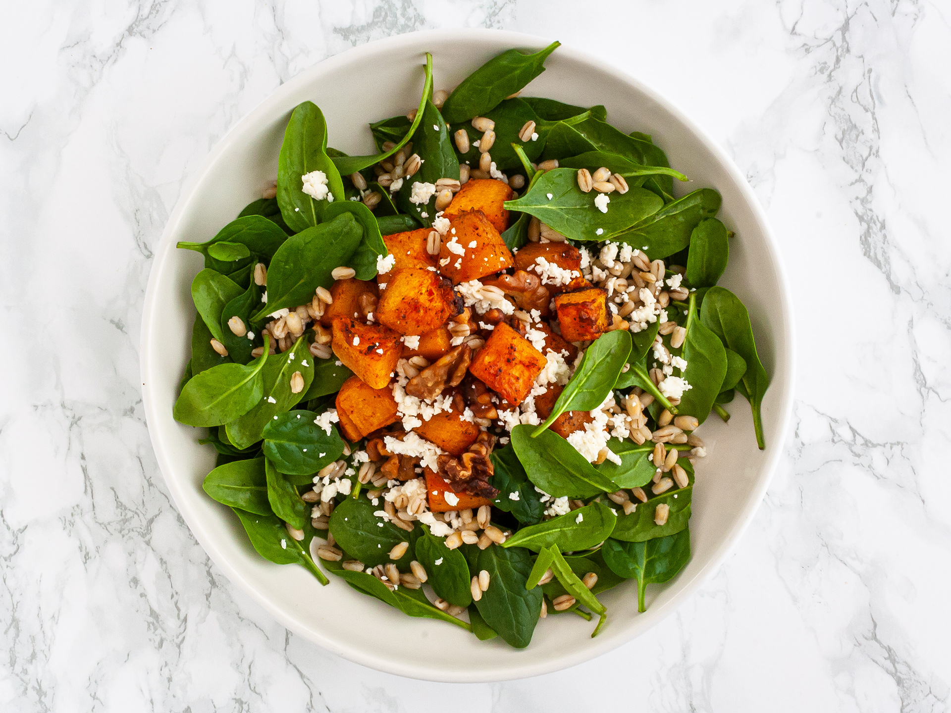 Step 3.1 of Pumpkin Spinach and Feta Salad Recipe