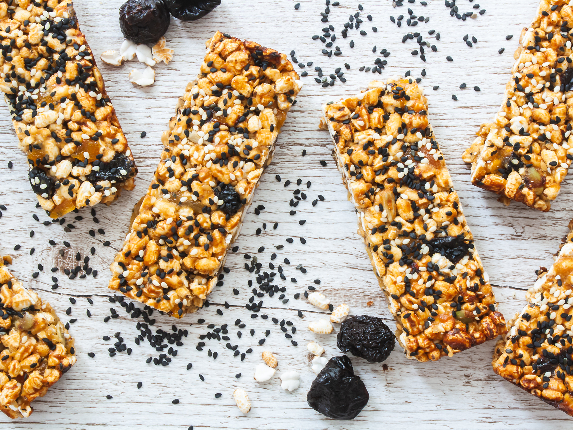 Sesame Puffed Rice Bars