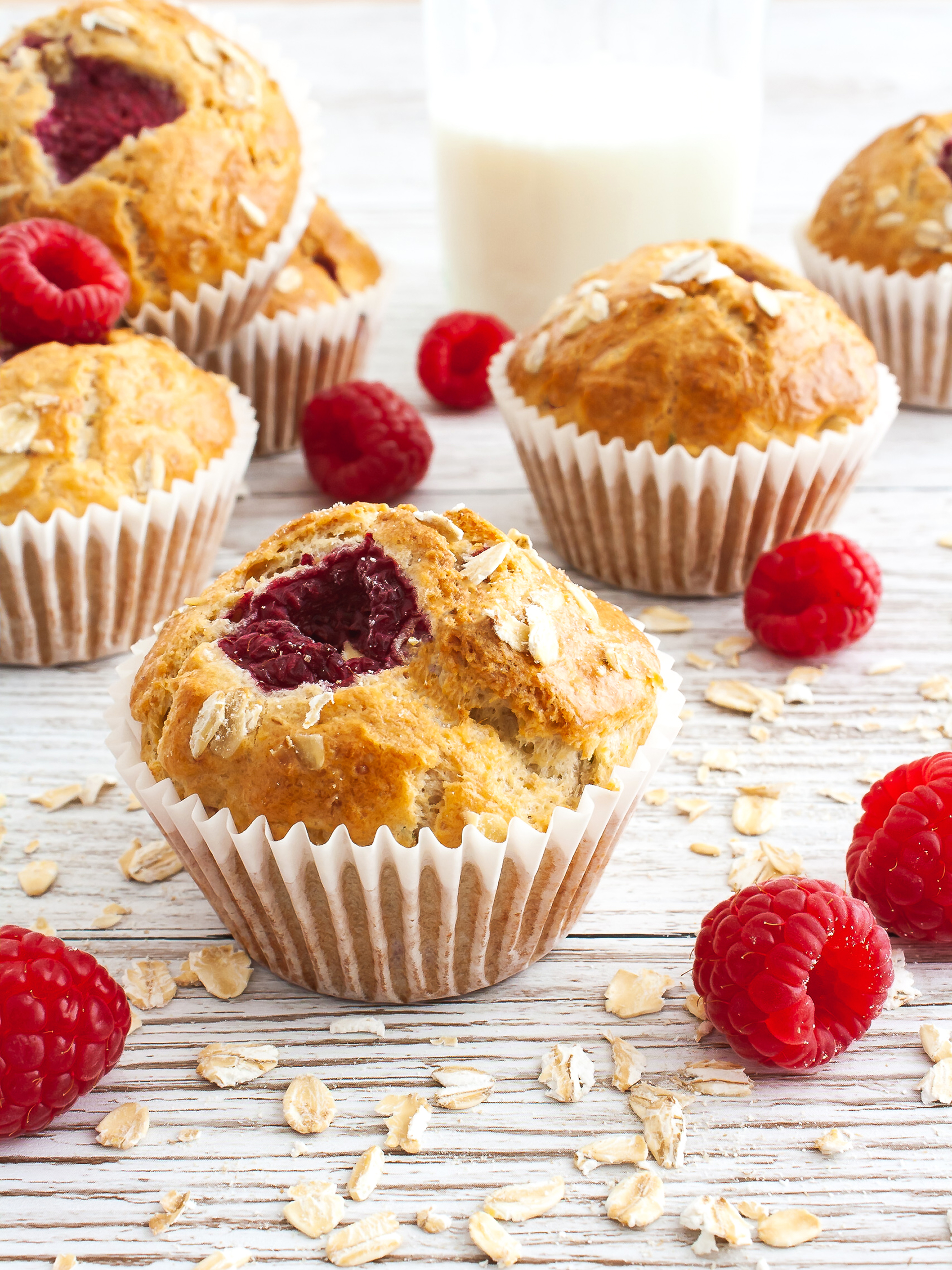 Gluten-Free Raspberry and Oat Breakfast Muffins Thumbnail