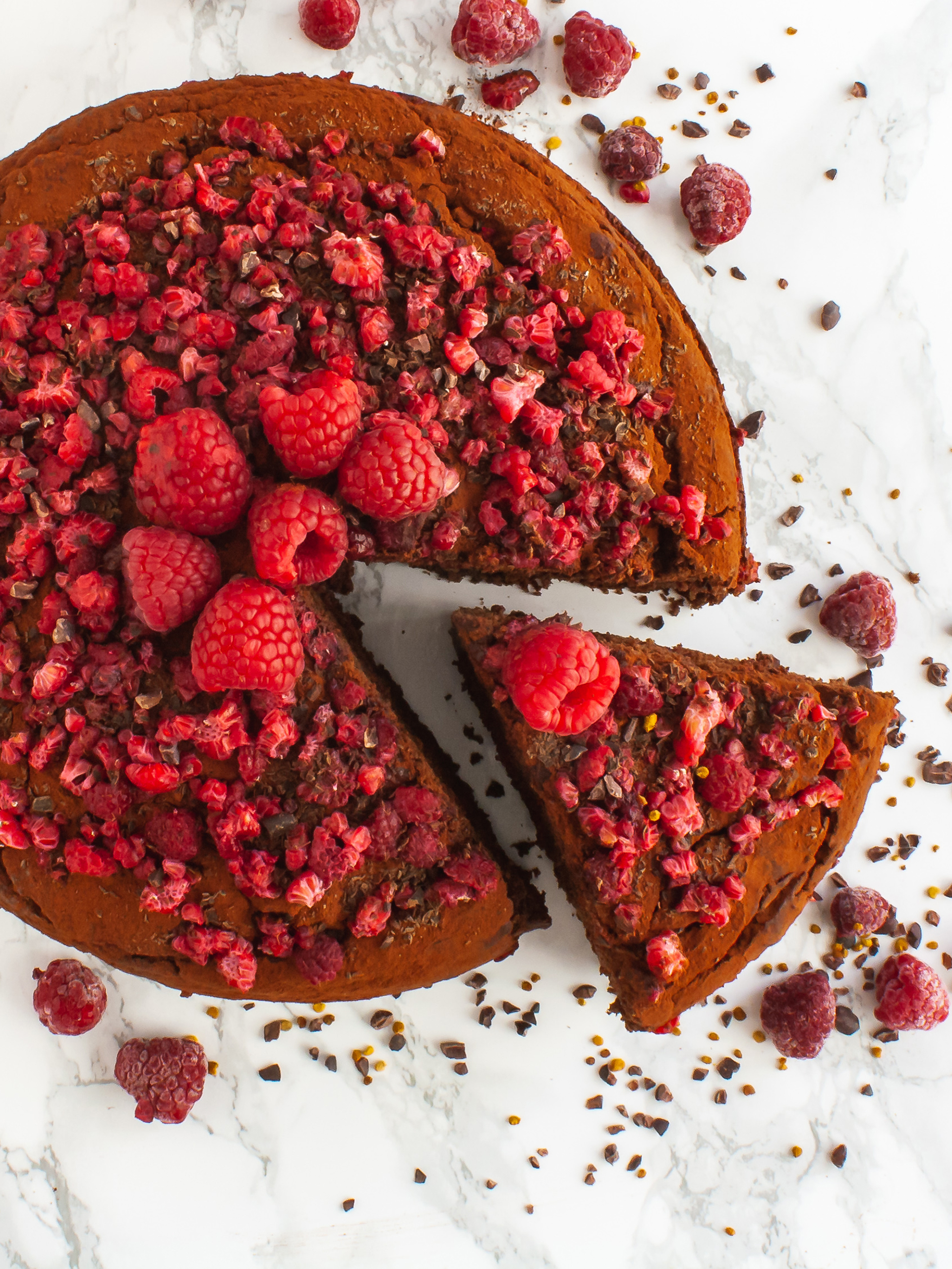 Vegan Chocolate Raspberry Cake Recipe Preview