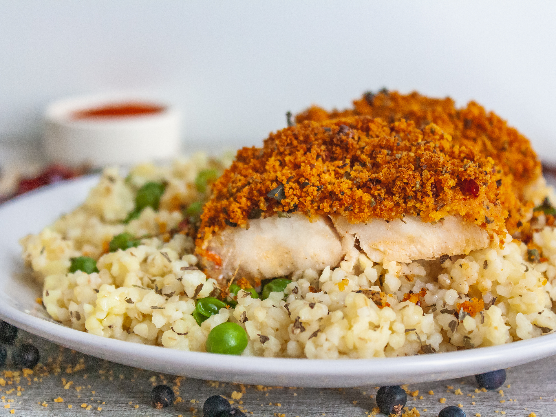 Herbs and Spices Crusted Hake Fillet Preview