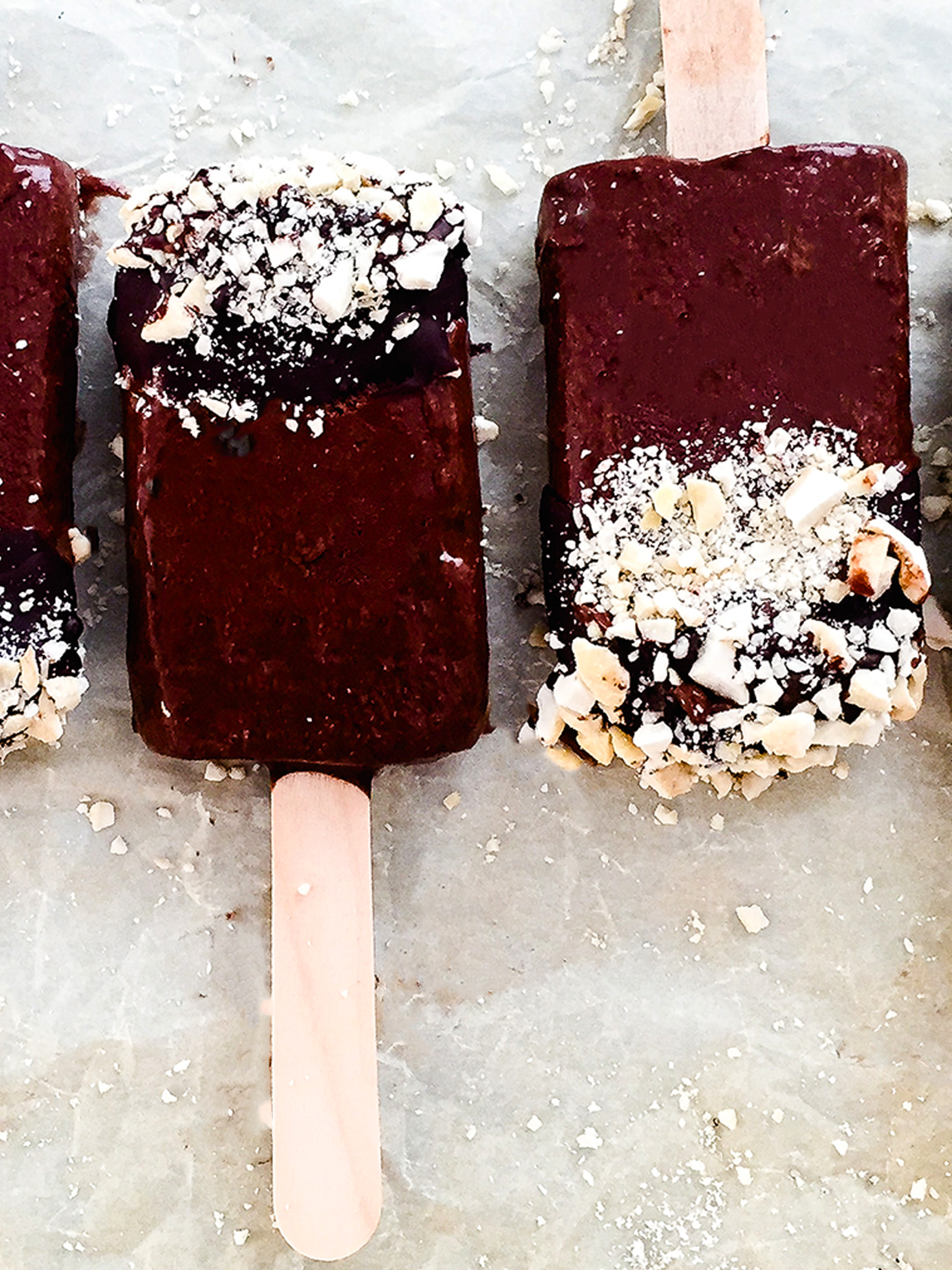 Dairy Free Dark Chocolate Banana Popsicles Thumbnail