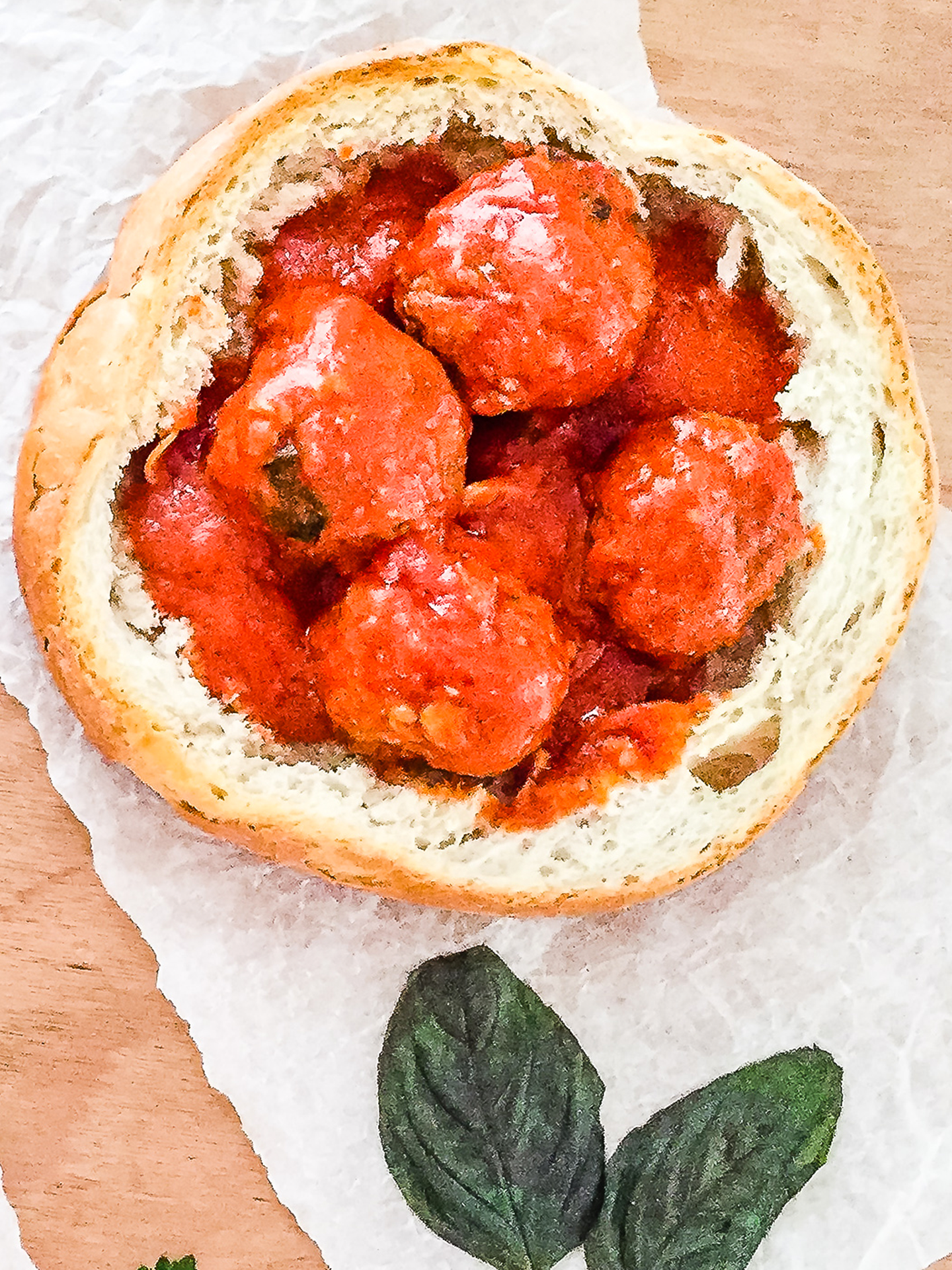Meatballs with Tomato Sauce in a Bread Bowl Thumbnail