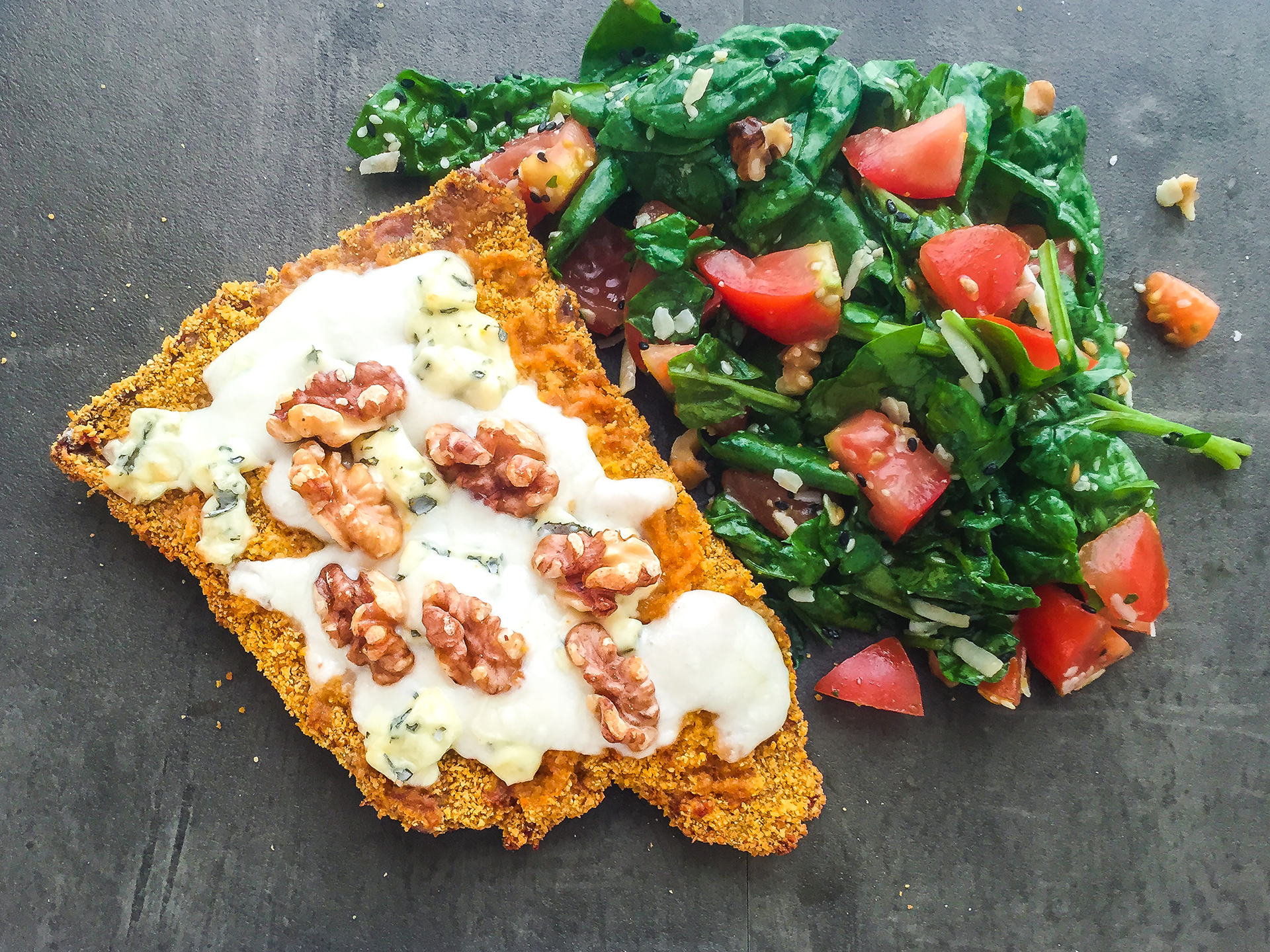 Blue Cheese and Walnuts Escalope Preview