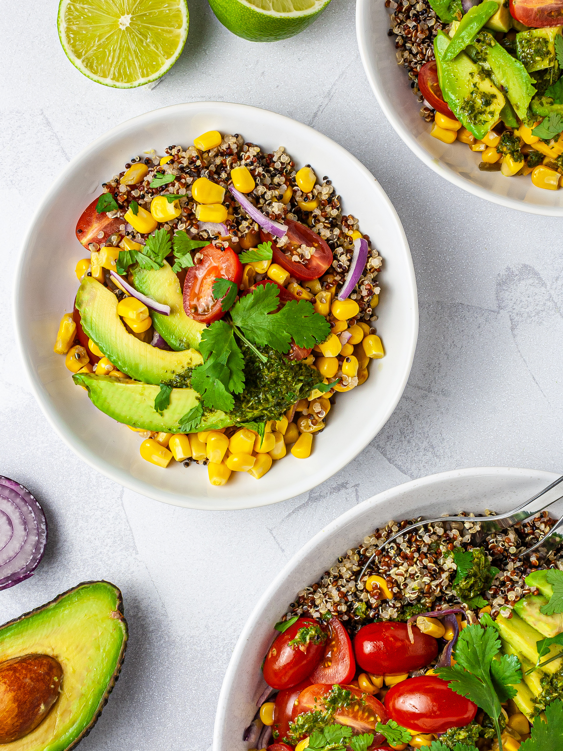 Fresh Cilantro Lime Corn Salad Recipe Thumbnail