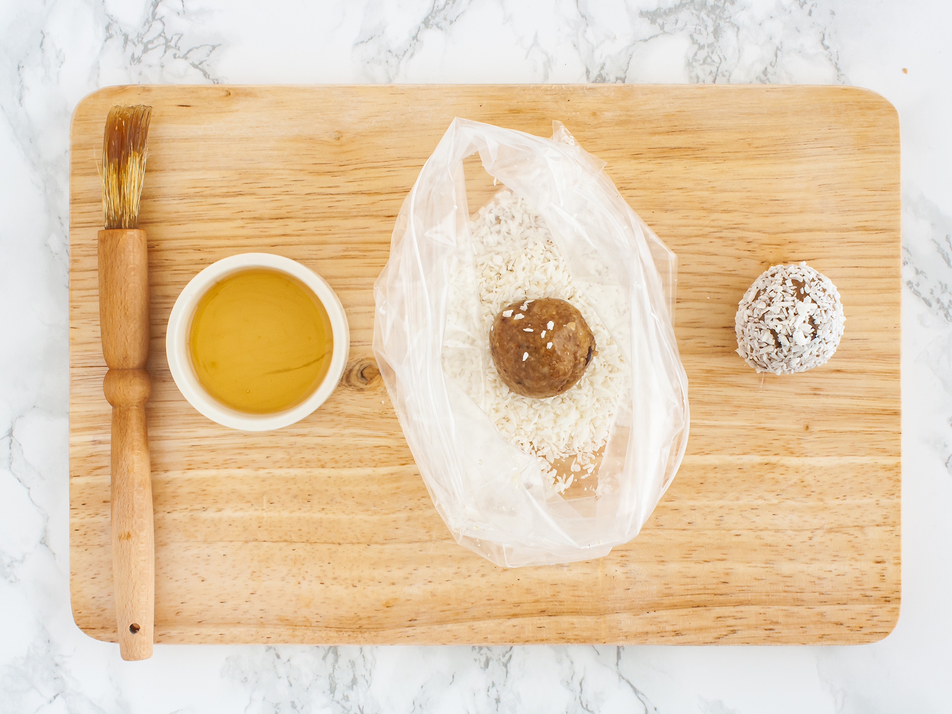 Step 3.2 of Chocolate and Coconut Cashew Truffles Recipe