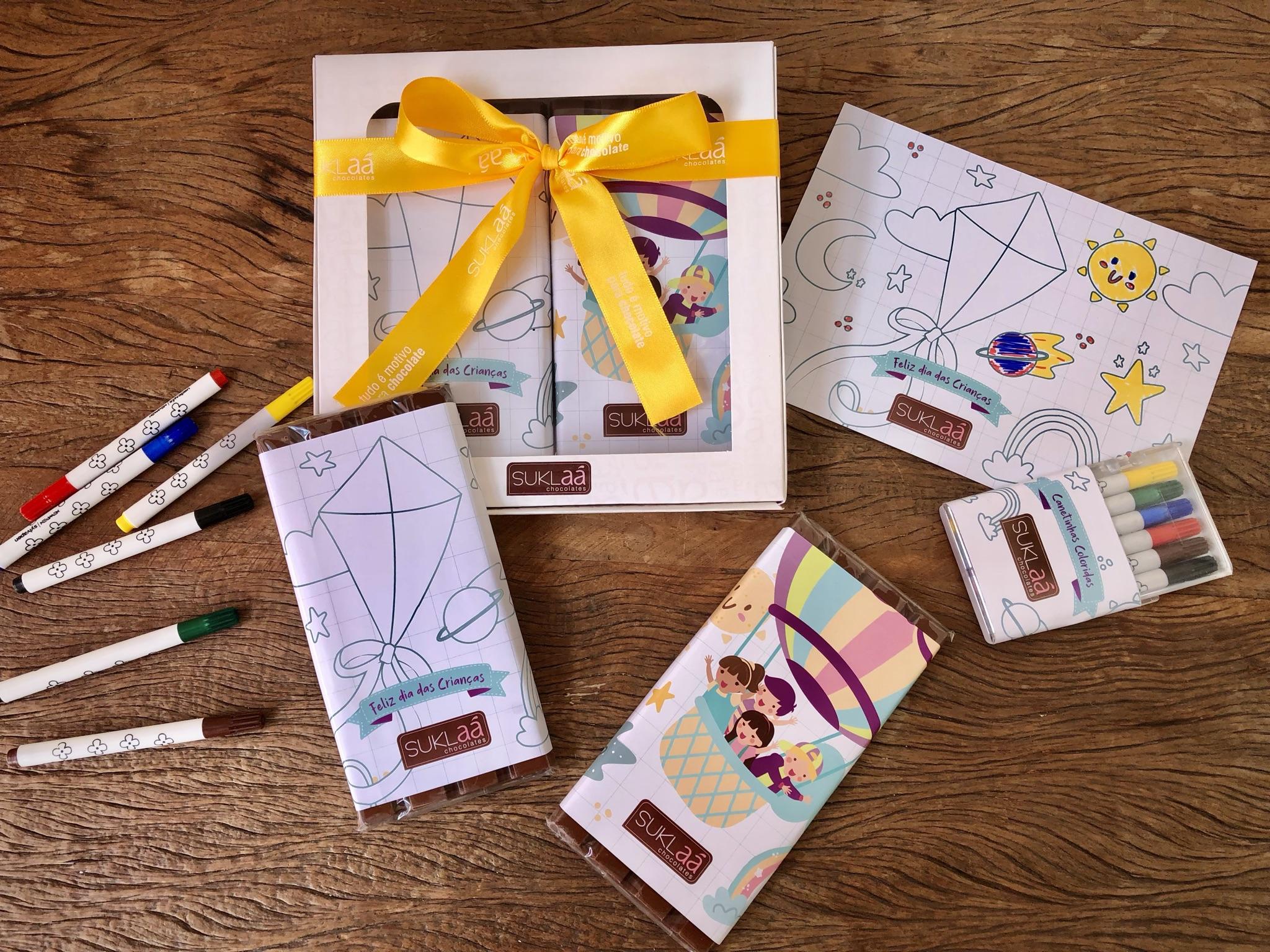 Dupla de Barras com canetinha - Dia das crianças