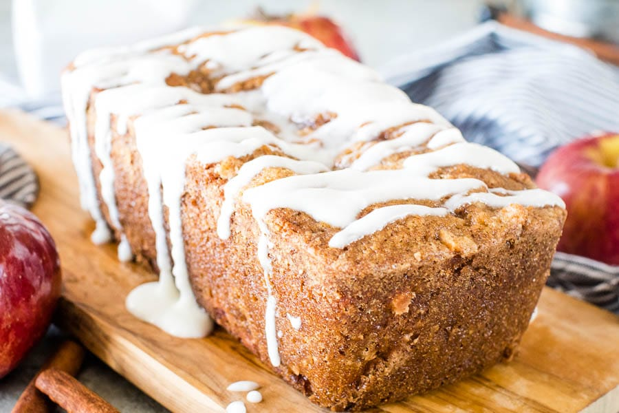 Apple Bread with Icing {Smoked or Baked}