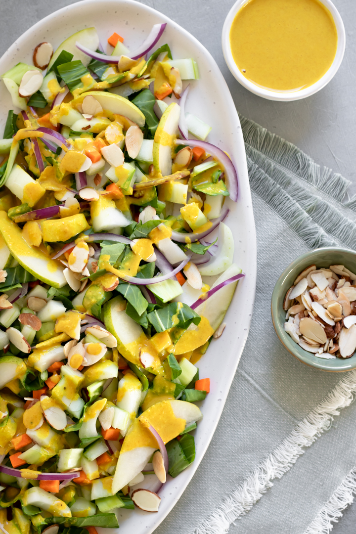 Bok Choy Salad With Ginger-Turmeric Dressing