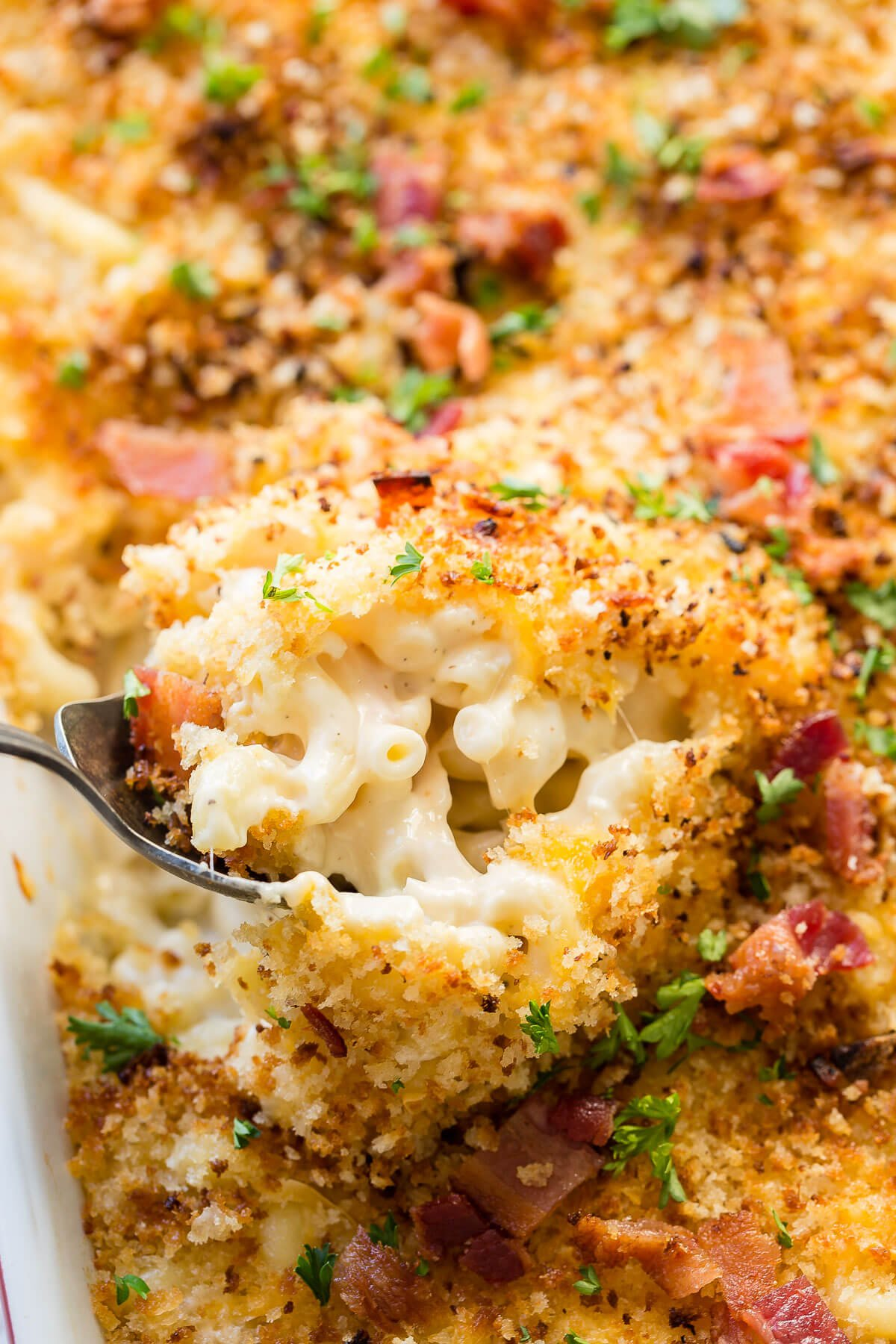 Cheesy Chicken Bacon Ranch Macaroni and Cheese