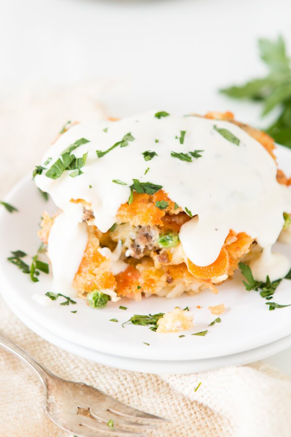 Cheesy Ground Beef and Rice Fried Cakes