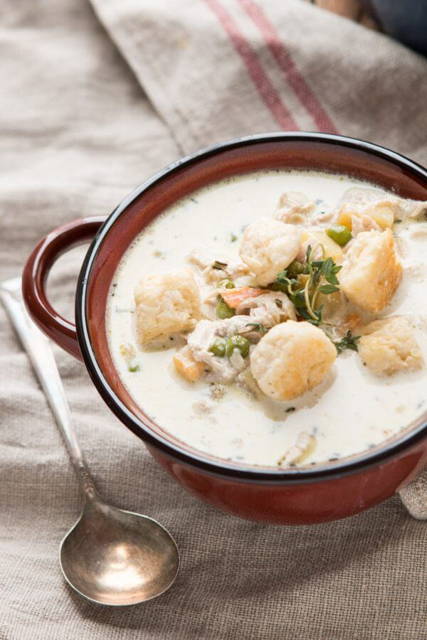 Chicken or Turkey Pot Pie Soup