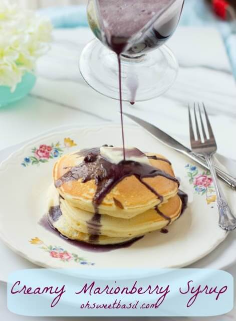 Creamy Marionberry Syrup