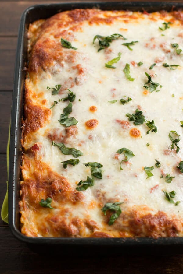 Easy Homemade Lasagna with Sweet Cheddar