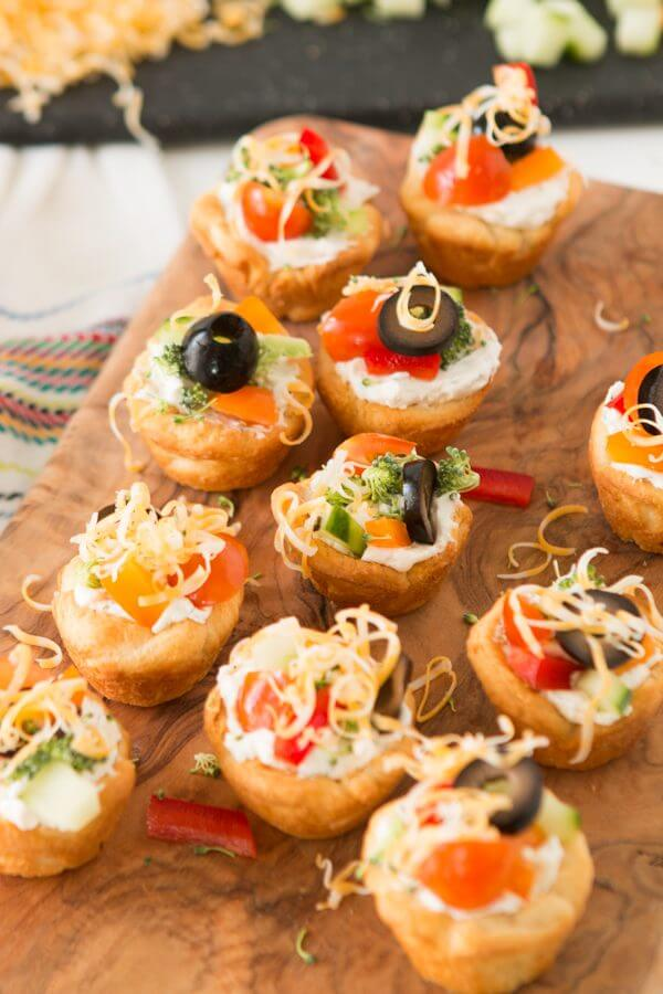 Easy Veggie Pizza Tarts Appetizer