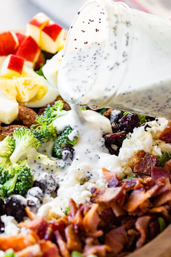 Harvest Cobb Salad with maple poppy seed dressing