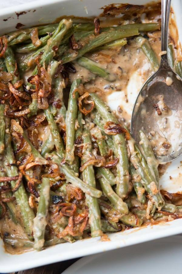Heritage Green Bean Casserole with Crispy Shallots