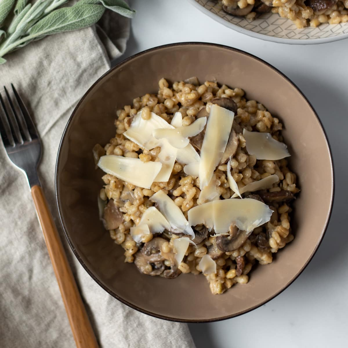 Preview Image for recipe: Mushroom-Sage Orzotto