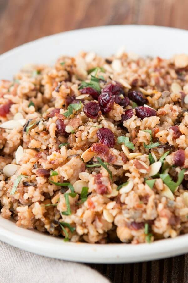 Orange Cranberry Almond Rice Pilaf