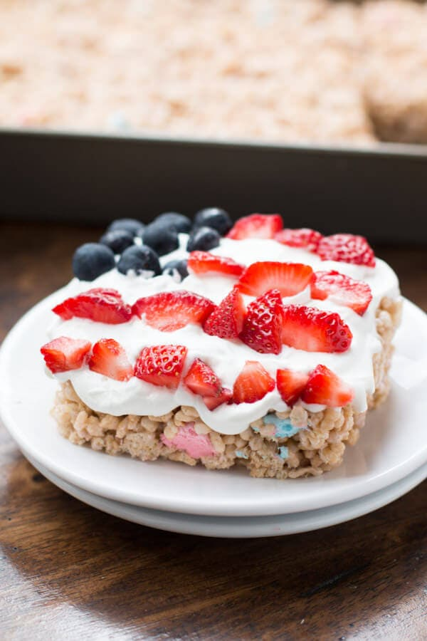 Red White and Blue Lemon Rice Krispies