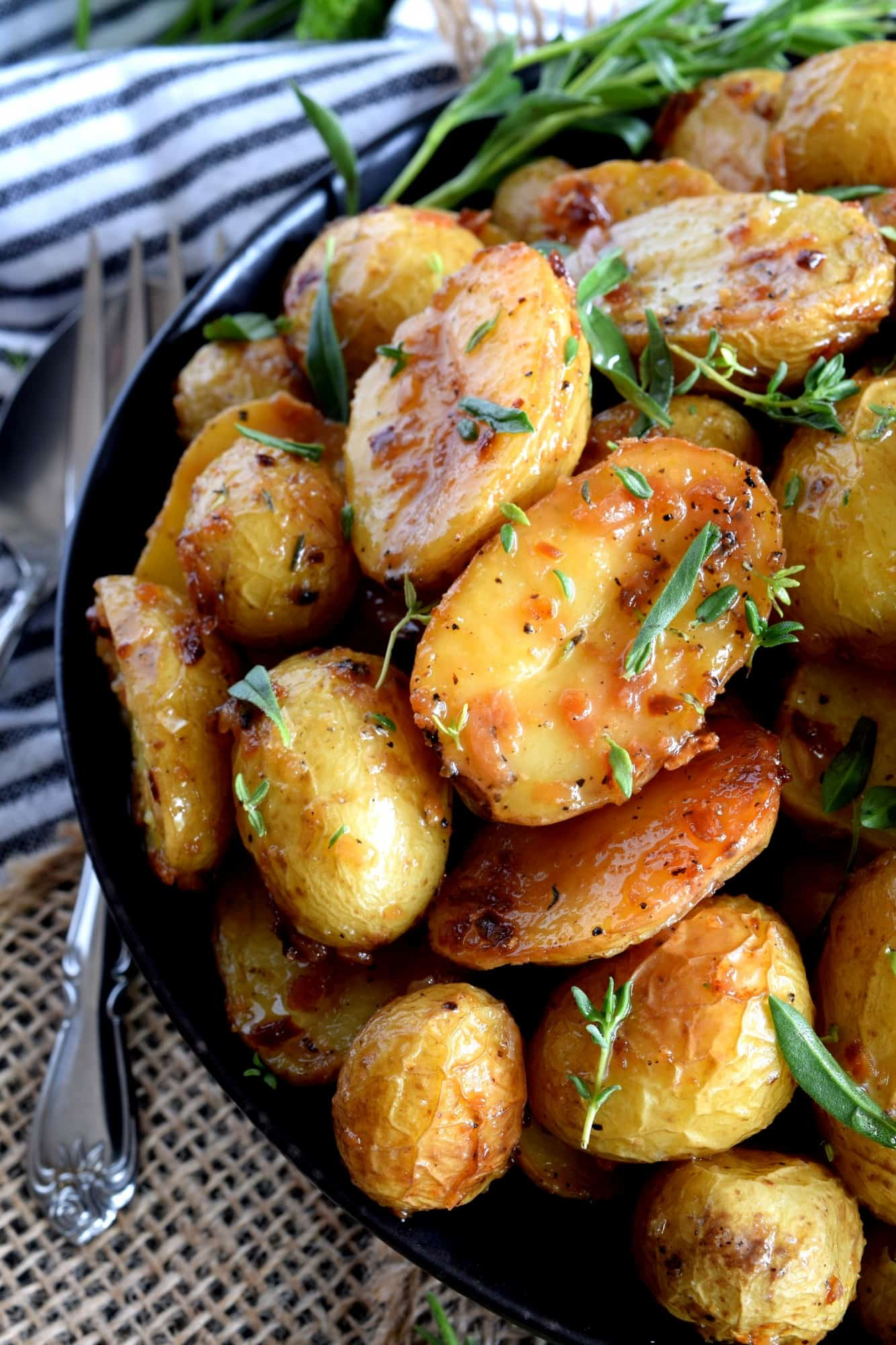 Image for recipe: Roasted Potatoes with Herbs and Crunchy Onions