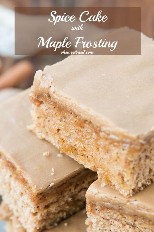 Spice Cake with Maple Frosting