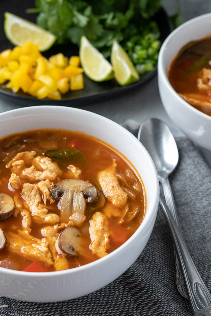 Spicy Thai Soup With Soy Curls