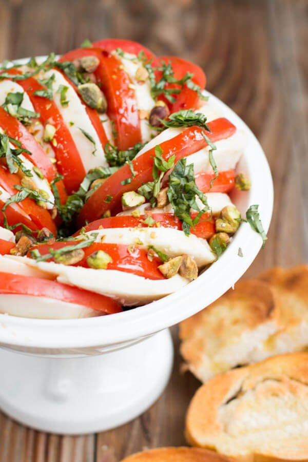 The BEST Caprese Salad with Pistachios