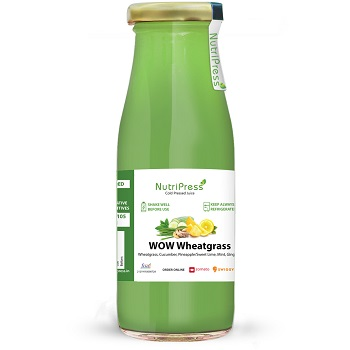 Nutripress Cold Pressed Juice Wow Wheatgrass 250 Ml